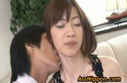 Kanon Hanai Asian Babe Gets A Finger In Her A - Free Sex Video
