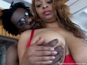 Heavy hooter ebony babe gets doggy fucked - Free Sex Video
