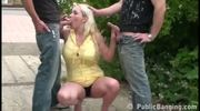 Risky Threesome By A Busy Street! Awesome! - Free Porn Video