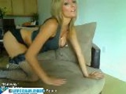 Hot Blonde Spanks The Monkey Cam Girl(18+)
