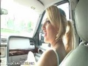 Sexy Blonde Housewife Fucks And Sucks Cock In Car