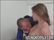 Redhead gets her clit licked