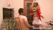 Petite Blonde Princess Dancing For Him - Free Porn Video