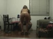 Wife Rides Guy On Chair