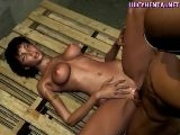 Animated Babe(18+) Enjoy A Black Cock