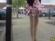 Wind Blowing A Skirt Around