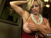 Busty hot milf goes crazy masturbating her greedy ass b