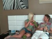 Busty blonde milf gets horny playing with toys by Hunti
