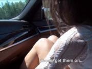 Slutty brunette teen girl Foxy Di anal fucked in the ca