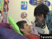 Twink movie of Mike is first to give the oral act but T