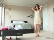 Nasty teen brunette is picked up from street shows her