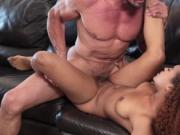 Big Daddy cock fucks Nami Dahlia on top
