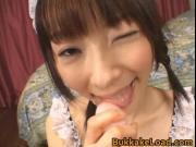 Kinky Japanese Maid Enjoying a Hardcore Bukkake Scene 2