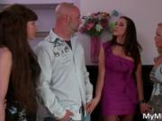 Sexy brunette MILF with big tits Ariella Ferrera gives