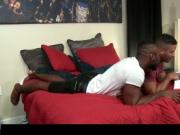 Hot ebony gays having wild anal sex