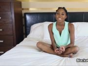 Perky black teen fucks on casting