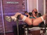horny blonide girl using huge vibrator cock 3 by XNPass