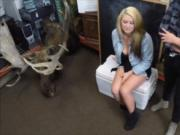 Hot ass lesbian couple 3some at the pawnshop to earn mo