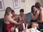 Mature sluts using vibrators at sex party