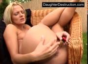 Young teen daughter rougly hatefucked