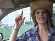 Cute amateur teen cowgirl Dillion Harper rides a cock