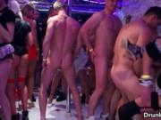 Dirty drunk whores go crazy getting fucked hard in an o