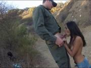 Tight latin babe pounded on the border
