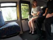 Horny teen girl Lola pounded in the bus by the inspecto