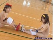 Free jav of Amateur Japanese teens exposed playing ball