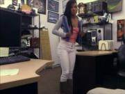 Hot ebony gets fucked at the pawnshop for the golf club