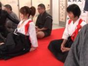 Sexy Japanese karate babe gets fucked in the gym by Wei