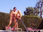 Enormous juggs honey Kayla Kayden fucked by the pool
