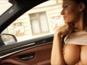 Stranded teen Kitana Lure asshole fuckedinside the car