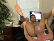 Hot twink Pervy boss Mitch Vaughn eventually digs up en