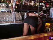 Slutty Bartender Mercedes Carrera Gets Fucked By Two Bl
