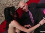 Sensual brunette MILF Veronica Avluv blows Johnny Sins