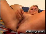 Busty mom on a hot dildo fucking session video 3 by Rea