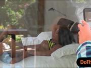 Teen slut Eva Lovia and sexy milf India Summer share a