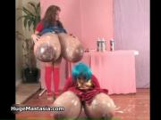 Two super sexy asian babes like to play with their mass