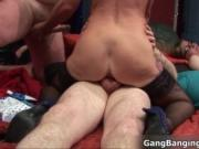 Nasty blonde slut goes crazy riding an hard cock in a g
