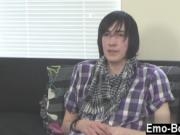 Twink movie Adorable emo stud Andy is fresh to porn but