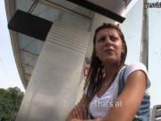 Real amateur Czech girl Petra banged near the tram stat