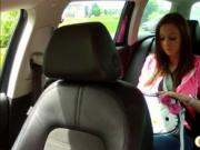 Hot beauty Natalie paid a fare with a blowjob and hardc