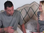 Step dad pounding Sophie Sativas virgin pussy