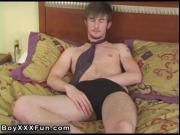 Hot gay UK twink Justin is back in his 2nd video! Justi