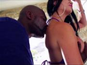 Super sexy Jasmine sucks and fucks hard on a black dick