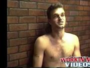 Hot amateur dude Dallas with long hair enjoys in a solo