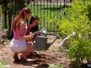 Two tight teens Ava Sparxxx n Veronika licking in the g