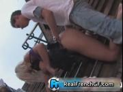 Blonde french gf fucked outside by the stairs 3 by Real