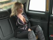Blonde with huge tits banged